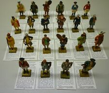 1960's Lipton Famous Canadian Heroes By Marx Lot of 22 Figurine Premiums