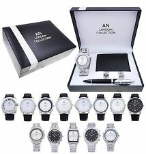 AN London Gift Watch Set with Wallet, Cuff Links And Pen for Men's/Boy's -AN8120