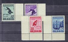 Österreich 1936 FIS II mit Allongen bzw Eckrand komplett **