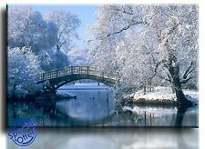 Large Wall Art Canvas Picture Print of Winter Landscape Framed