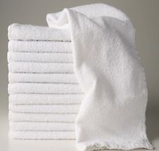 12 NEW WHITE 16X27 100% COTTON TERRY HAND TOWELS SALON/GYM/HOTEL ABSORBENT 10/s