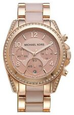 NEW MICHAEL KORS BLAIR ROSE GOLD CHRONOGRAPH STAINLESS STEEL LADIES WATCH MK5943