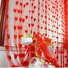 Homefab India Set of 2 Beautiful Red Heart Door Curtains (HF271)