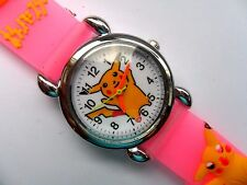 New Great  Kids 3D POKEMON PIKACHU  Silicon // Jelly  Watch   Pink Strap