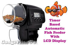 Timer Based Automatic Aquarium Fish Feeder LCD Display Battery Operated