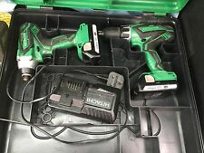 Hitachi Impact Driver- Cordless Drill 18V WITH TWO BATTERIES CHARGER AND CASE