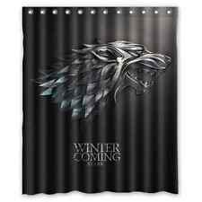 New Game of Thrones Winter is Coming Stark Waterproof Bath Shower Curtain 60x72
