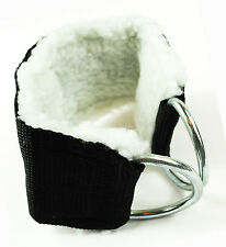 Ankle Wrist Straps (Thick Fur) for cable machine leg pulley stretching Sold PAIR