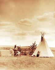CAYUSE INDIAN LAZY DOG TIPI PHOTO TEEPEE NATIVE AMERICAN OLD WEST 1897  #21183