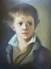1908 Russian art hand painted lacquer box Fedoskino Portrait of Arseny Tropinin