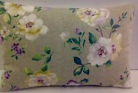 BRAND NEW SINGLE SHABBY CHIC-STYLE OBLONG CUSHION COVERS LILAC RED SAGE GREEN