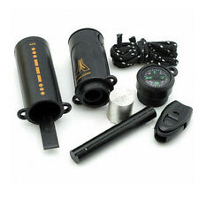 Fire Flint Camping HOT Kit 10 in 1 Survival Emergency Compass NEW Tool Hiking