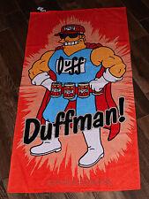 NEW Universal Studios Authentic Simpsons Duffman Beer Beach Towel Pool Shower