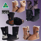 UGG Boots CLEARANCE SALE - AUSTRALIAN MADE SHEARERS Single Button /+Animal Print