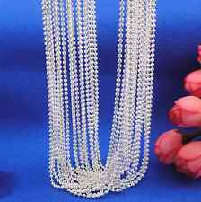 wholesale 5p SilverChain pearl Charm Pendant Necklace Jewelry 16""