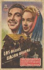 Programa PUBLICITARIO de CINE: LAS AGUAS BAJAN NEGRAS.