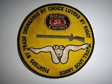 "BIERE 33 EXPORT ""SORRY BOUT THAT"" Vietnam War Novelty Patch"