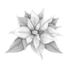 SPELLBINDERS 3D Shading Cling Stamp POINSETTIA DSC-010 2.75 x 4.00 in