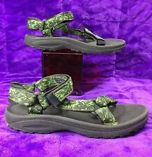TEVA HURRICANE green/black sport/river/water sandals . women's 5