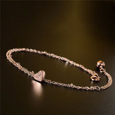 2017 Foot Jewelry Bell Ring Love Heart Chain Anklet For Women 18k Gold Plated