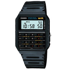 Casio CA53W-1, 8-Digit Calculator Watch, Resin Band, Day/Date, Alarm, Chrono