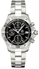 TAG HEUER AQUARACER CAF2110.BA0809 AUTOMATIC CHRONOGRAPH BLACK STEEL WATCH