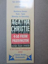 BOOKMARK AGATHA CHRISTIE 4.50 From Paddington 1957 Book Cover Wallace & Scott