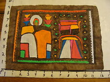 Marge O'Connell Painting: BRIGHT COLORS on BROWN HOME MADE PAPER #1