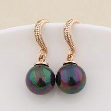 Black Pearl Appealing 18k gold filled swarovski crystal antique Dangle earring