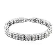 18K White Gold GP Swarovski Crystal Elements Fashion Bangle Bracelet  SF15630