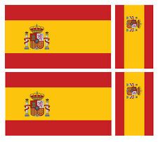 4 X SPANISH SPAIN  FLAG VINYL CAR VAN IPAD LAPTOP STICKER
