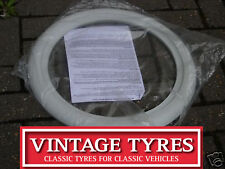 "4X 15"" WHITE WALL TYRE TRIMS WHITEWALL VW BEETLE CAMPER"