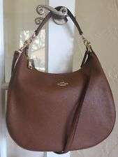Coach F38259 Pebble Leather Harley Hobo Saddle Brown