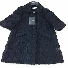 Dolce And Gabbana Black Mesh Applique Baby Girls Age 3 Dress Coat BNWT