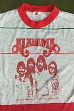 True Vintage 70s 80s Alabama Concert Tour 100% Nylon Country Rock Music T-Shirt