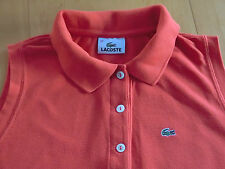♛ Original LACOSTE Damen Poloshirt orange Gr. 42 eher Gr. 40 ♛