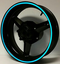 BLUE REFLECTIVE WHEEL STRIPE RIM STICKER TAPE DECAL HONDA CBR 250R 600RR 1000RR