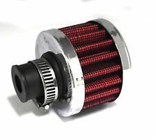 Universal AIR BREATHER FILTER - RED 8mm Neck & Clamp