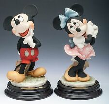 Pair of Giuseppe Armani Disney Mickey and Minnie Mouse Figurines, ca 1998
