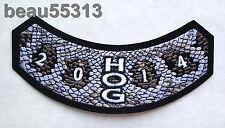 HARLEY DAVIDSON OWNERS GROUP HOG H.O.G. 2014 VEST SNAKE SKIN ROCKER PATCH