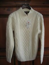 New Erdos  4 or 6 Ply THICK 100% Cashmere Turtleneck Sweater S M L Cream #3