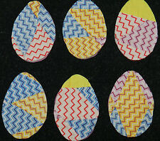 10 PRIMITIVE ANTIQUE CUTTER QUILT EGGS! EASTER! Scrapbooking! CHEVRON