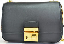 NWT MICHAEL KORS GIA BLACK SMALL CHAIN FLAP CROSSBODY BAG MSRP $490.00 #1224M