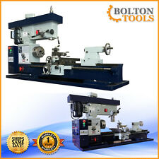 "Bolton Tools 12"" x 36"" Metal Lathe Mill Drill Milling Combo Machine AT400 METRIC"