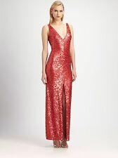 NEW BCBG Coral Comb SUMNER Sequined Gown S $448 JQI6U158