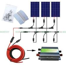 300W Complete Kit: 3*100W Solar Panel w/ 45A Controller for Off Grid Home System