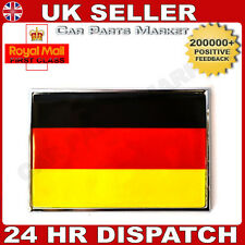 NEW CHROME SELF ADHESIVE CAR STICKER BADGE 3D GERMANY FLAG EMBLEM + FREE GIFT