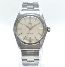 Rolex Tudor Oyster Mens Vintage Steel Manual Watch  Riveted Band Small Rose 7934