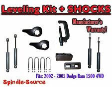 "2002 - 05 Dodge RAM 1500 4x4 4WD 1-3"" / 3"" Torsion Leveling KIT + Shocks + TOOL"