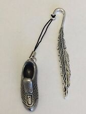 Football Boot DR38 Made From Fine English Pewter On A FEATHER Bookmark